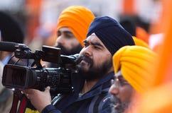 De Sikh optocht van Kirtan van Nagar Royalty-vrije Stock Fotografie