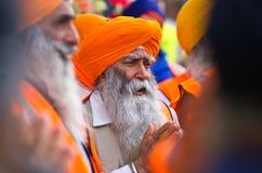 De Sikh optocht van Kirtan van Nagar Stock Foto's