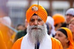 De Sikh optocht van Kirtan van Nagar Stock Fotografie