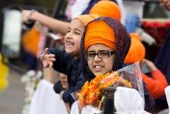 De Sikh optocht van Kirtan van Nagar stock afbeeldingen