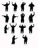 De Silhouetten van de basketbalvraag Royalty-vrije Stock Afbeelding