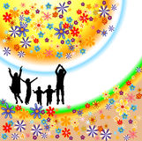 De silhouetten van de familie vector illustratie