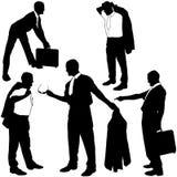 De silhouetten van de manager - het dagelijkse leven royalty-vrije illustratie