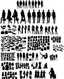 De silhouetten van de manier Stock Foto's