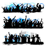 De silhouetten van de menigte Royalty-vrije Stock Foto