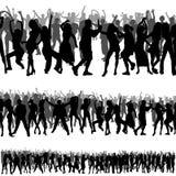 De Silhouetten van de menigte Royalty-vrije Stock Afbeeldingen