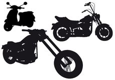 De silhouetten van de motorfiets,   Stock Afbeelding