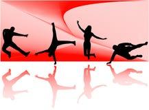 De silhouetten van de sport Royalty-vrije Stock Foto's