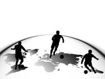 De silhouetten van de sport Stock Foto's