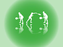 De silhouetten van de sport Royalty-vrije Stock Fotografie