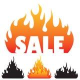 De silhouetten van de vlam. Stock Fotografie