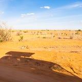 De silhouetten van de Voertuigen van de safari Stock Foto's