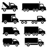 De silhouetten van de vrachtwagen Royalty-vrije Stock Afbeelding
