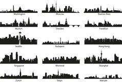 De silhouetten van de wereld Stock Foto's