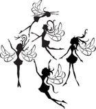 De Silhouetten van feeën Royalty-vrije Stock Foto