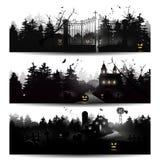 De silhouetten van Halloween Royalty-vrije Stock Afbeelding
