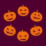 De silhouetten van Halloween Stock Foto