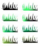 De silhouetten van het gras Royalty-vrije Stock Fotografie