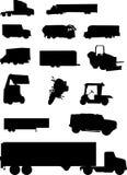 De silhouetten van het voertuig. Stock Afbeelding