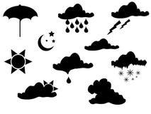 De silhouetten van het weer Stock Foto's