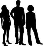 De Silhouetten van jonge Mensen Royalty-vrije Stock Afbeeldingen
