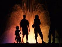 De silhouetten van mensen Royalty-vrije Stock Fotografie