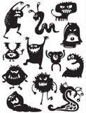 De silhouetten van monsters Stock Afbeelding