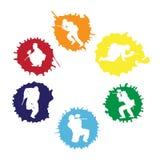 De silhouetten van Paintball in de dalingen royalty-vrije illustratie