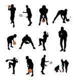De silhouetten van sporten Stock Foto
