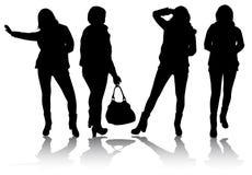 De silhouetten van vrouwen Royalty-vrije Stock Afbeeldingen