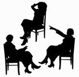 De silhouetten van vrouwen Royalty-vrije Stock Afbeelding