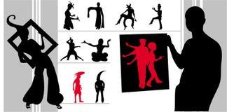 De silhouettenvector van vreemdelingen Royalty-vrije Stock Foto's