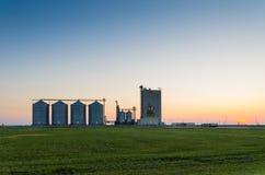 De silo's van de korrel Royalty-vrije Stock Foto