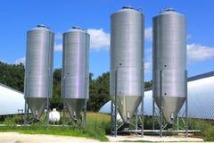 De silo's van de korrel Stock Afbeeldingen