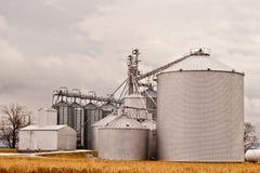 De Silo's van het landbouwbedrijf Royalty-vrije Stock Afbeeldingen