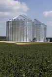 De silo's van het metaal Royalty-vrije Stock Fotografie
