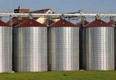 De silo's van het metaal Stock Foto