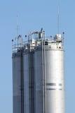 De silo's van het metaal Royalty-vrije Stock Foto's