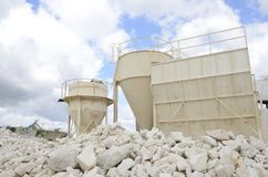 De silo's van kalkstenen Stock Fotografie