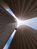De silo's van voorraden Stock Afbeelding