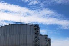De silo van de olie Royalty-vrije Stock Afbeeldingen