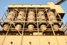 De silo van de steenkool Stock Foto's