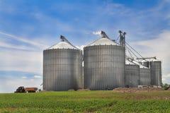De silo van het metaal Stock Afbeelding