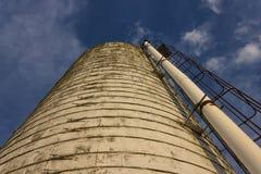 De silo van het rundvleescentrum in Virginia Tech stock foto