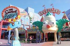 De Simpsons-Rit bij Universele Studio's Hollywood Royalty-vrije Stock Foto's