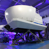 De simulator van de vlucht royalty-vrije stock afbeeldingen