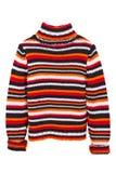 De sinaasappel breit sweater, verbindingsdraad royalty-vrije stock afbeeldingen