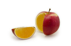De sinaasappel van de appel Stock Afbeelding
