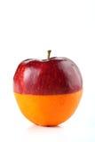 De sinaasappel van de appel Stock Fotografie