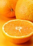 De sinaasappel van de citrusvrucht Stock Foto